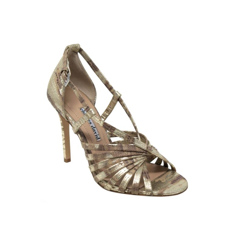 Charles David Centre Leather Strappy Pump