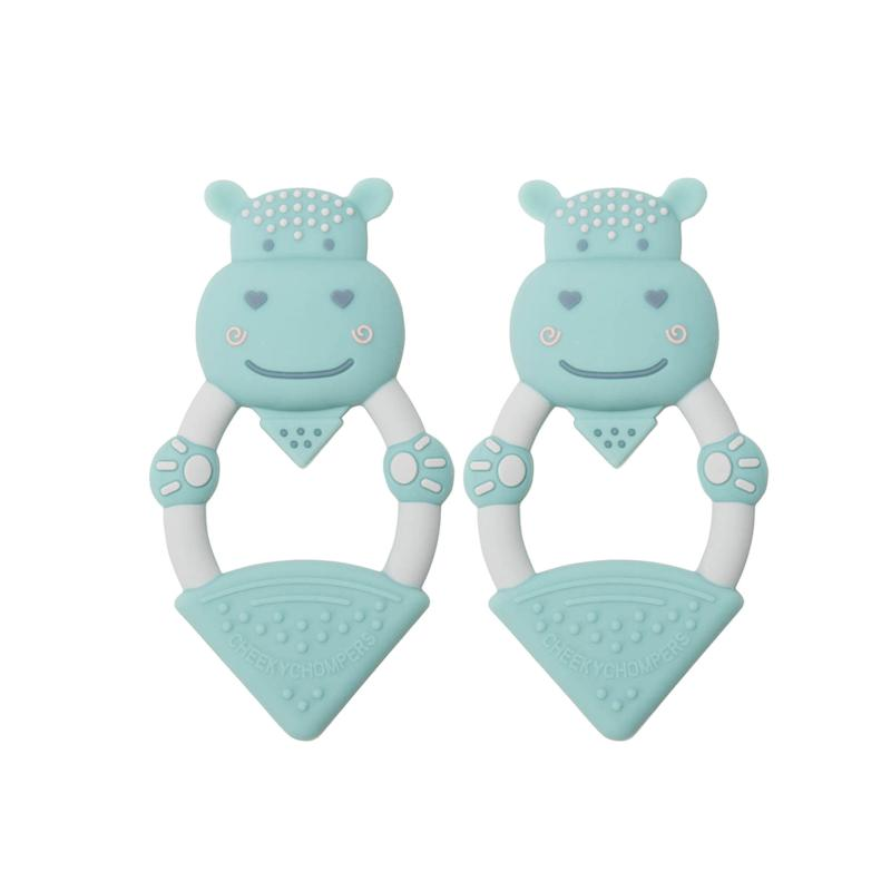 Cheeky Chompers Animal Teether Value 2-Pack - Hippo