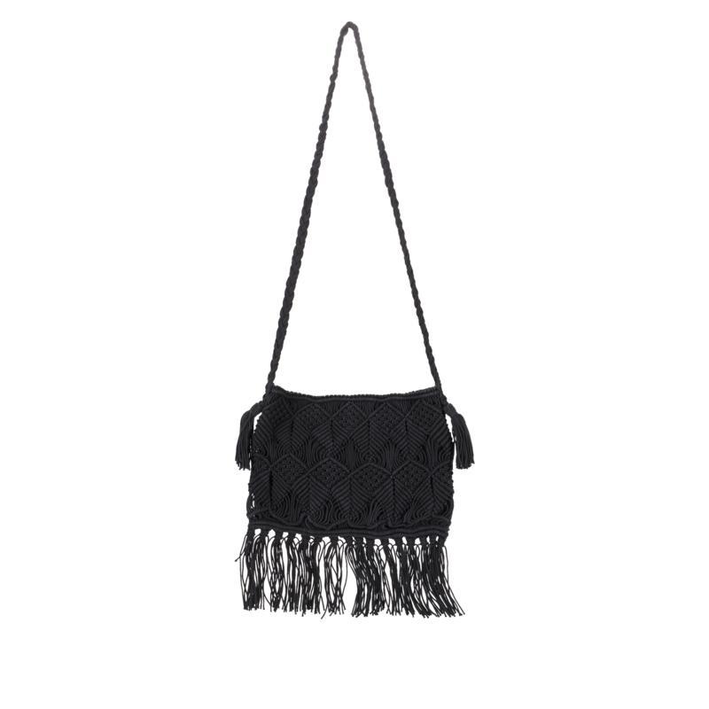 Clever Carriage Artisan Handmade Macramé Crossbody Bag