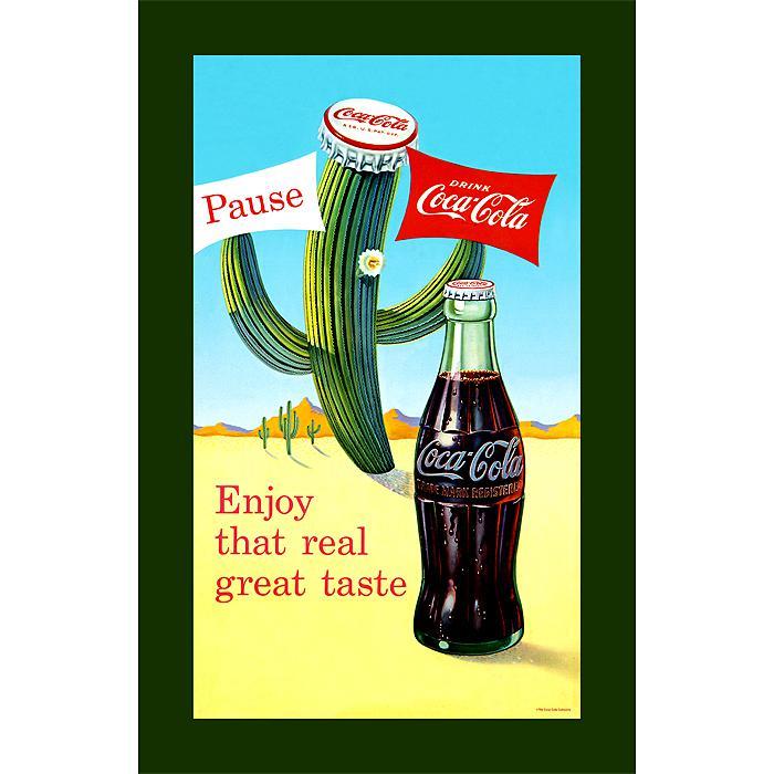 "Coca-Cola ""Coke Pause Cactus"" Canvas Art"