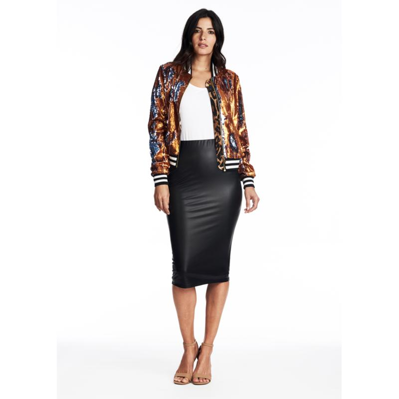 Coldesina Nikki Sequin Bomber Jacket