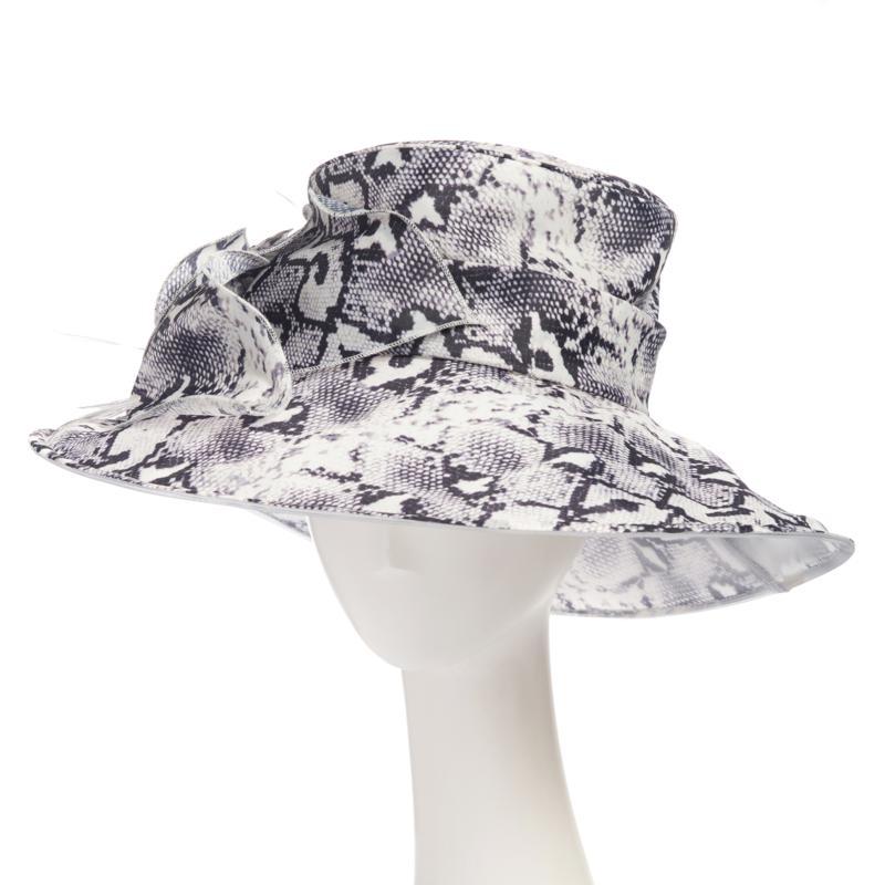 Collection 18 Animal-Print Organza Dressy Wide-Brim Hat