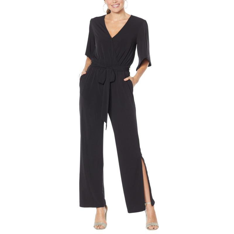 Colleen Lopez Crossover Belted Jumpsuit