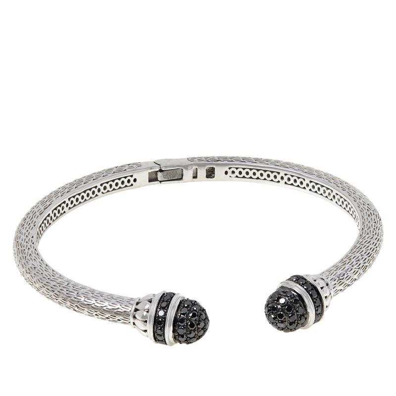 Colleen Lopez Sterling Silver 2.00ctw Black Diamond Cuff