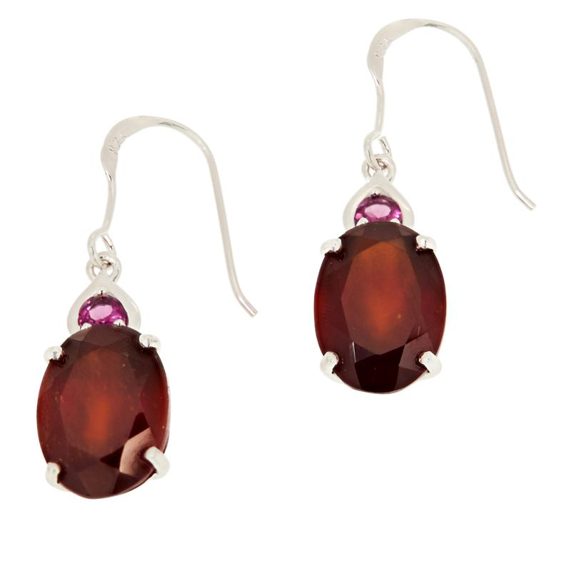 Colleen Lopez Sterling Silver Hessonite and Rhodolite Earrings