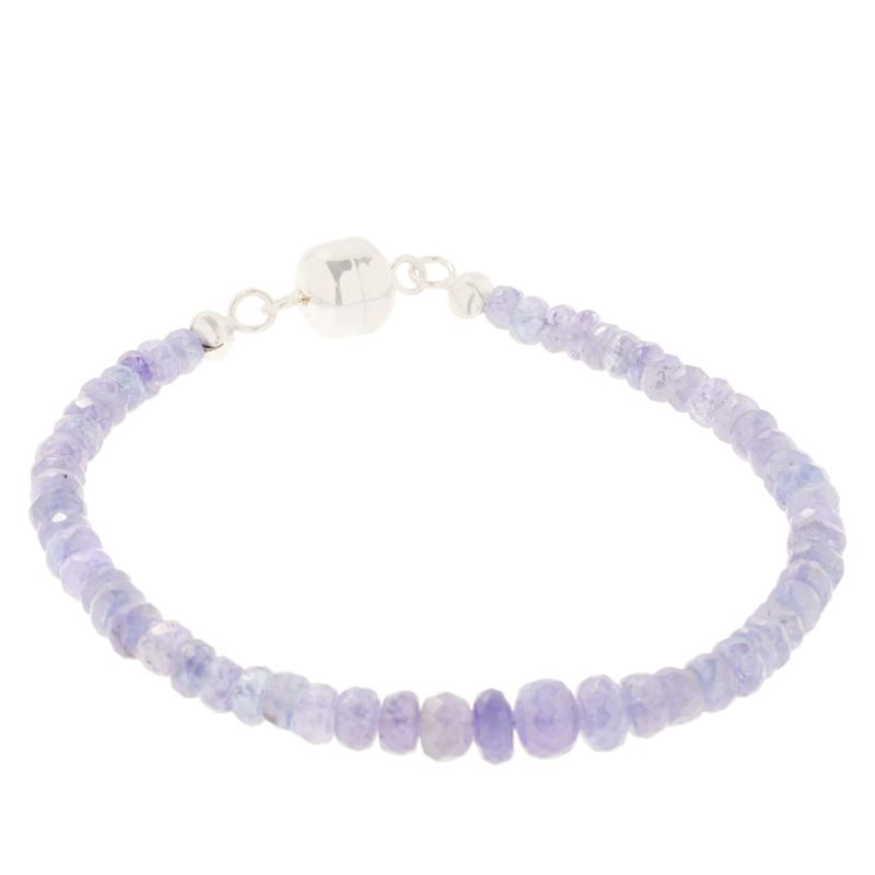 Colleen Lopez Tanzanite Bead Bracelet with Magnetic Clasp