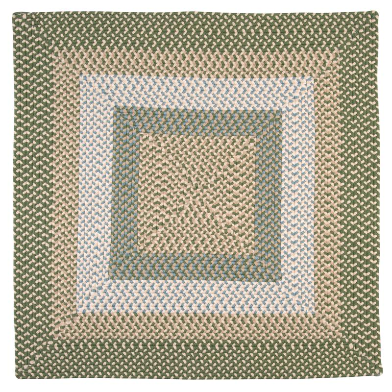 Colonial Mills Montego 8' Square Rug - Lily Pad Green