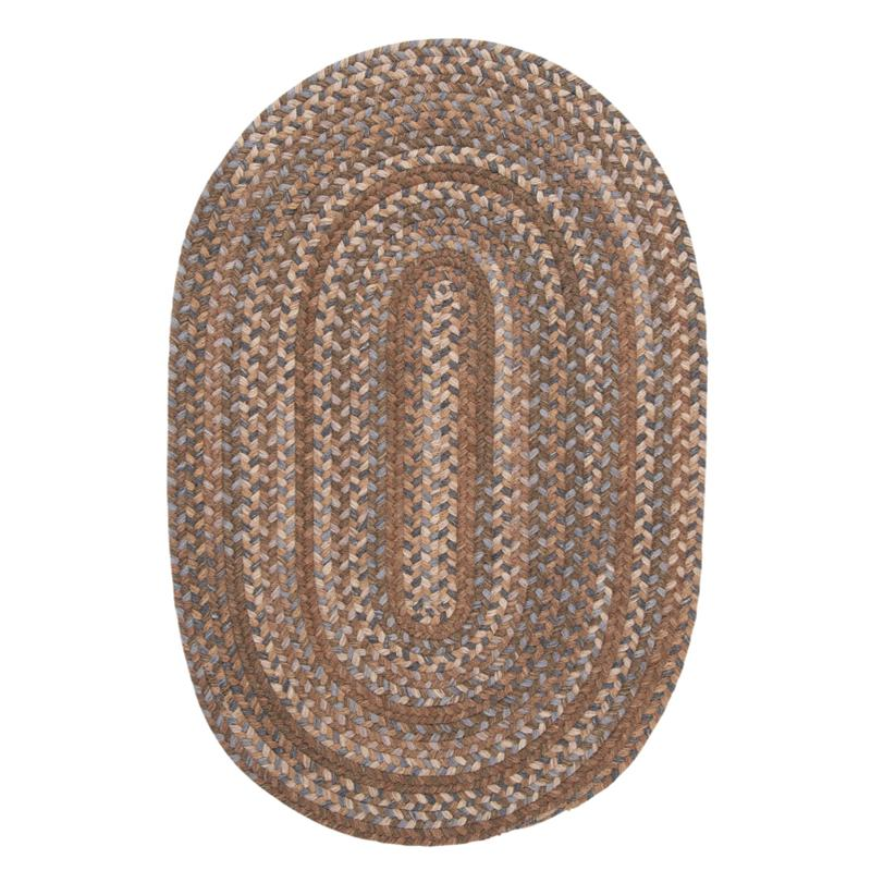 Colonial Mills Oak Harbour 8' Round Rug - Cashew