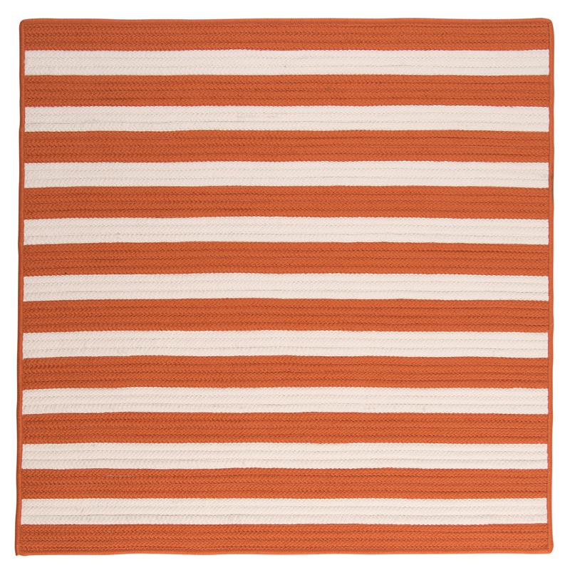 Colonial Mills Stripe It 8' Square Rug - Tangerine