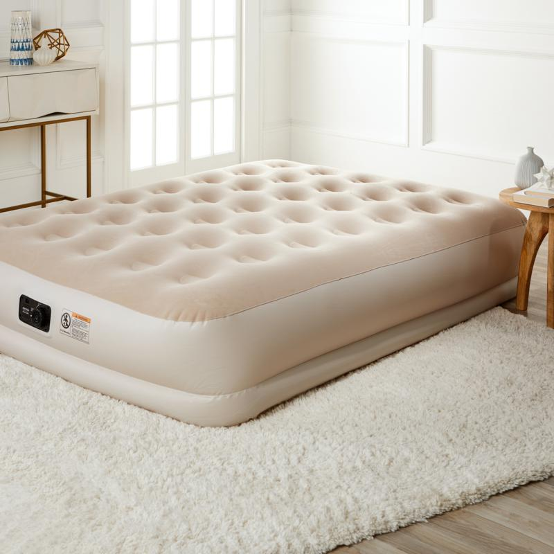 One 8pc Air Mattress Bed Set Queen, Concierge Collection Inflatable Ez Bed Queen