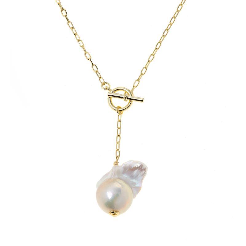 Connie Craig Carroll Jewelry Caroline Baroque Toggle Necklace