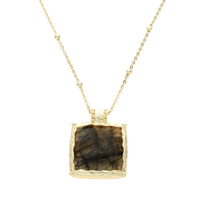 Connie Craig Carroll Jewelry Josephine Labradorite Square Necklace