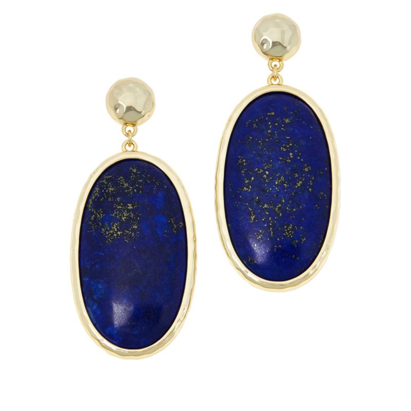 Connie Craig Carroll Jewelry Kate Oval Gemstone Drop Earrings