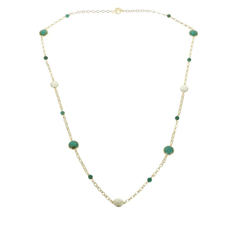 Connie Craig Carroll Jewelry Layla Green Turquoise Station Necklace