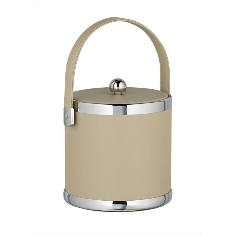 Contempo Tall 3qt Leatherette Ice Bucket w/Stitched Lid