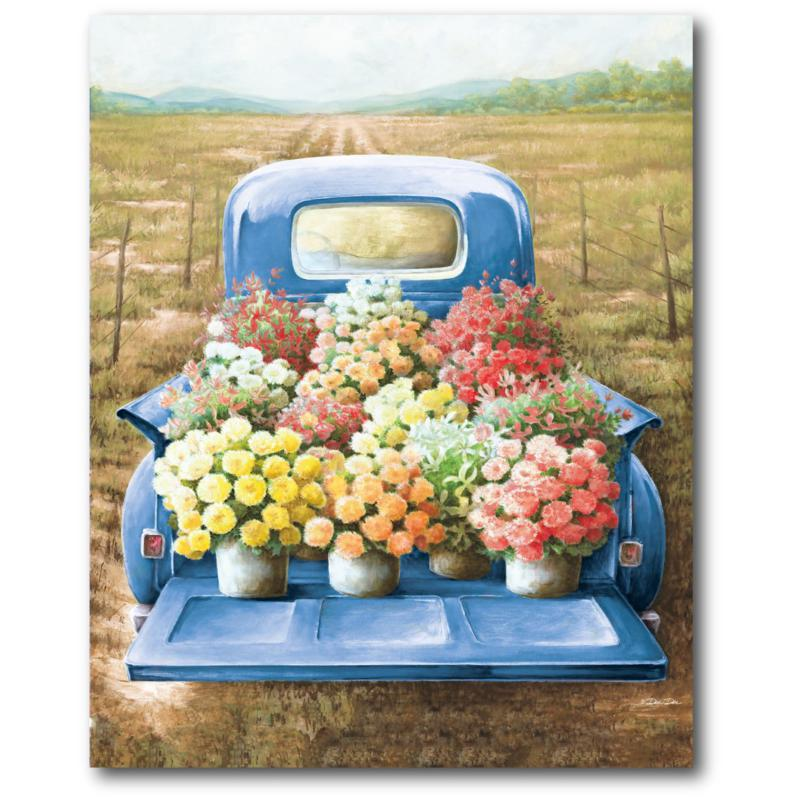 Courtside Market Flowers For Sale 16x20 Canvas Wall Art