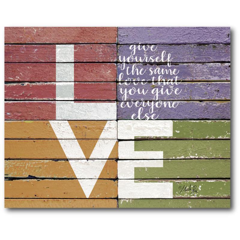 "Courtside Market LOVE Canvas Wall Art - 16"" x 20"""