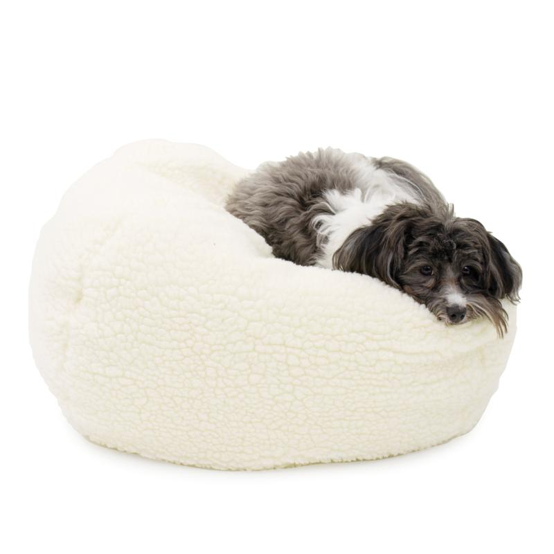 CPC Sherpa Puff Ball Pet Bed - Small