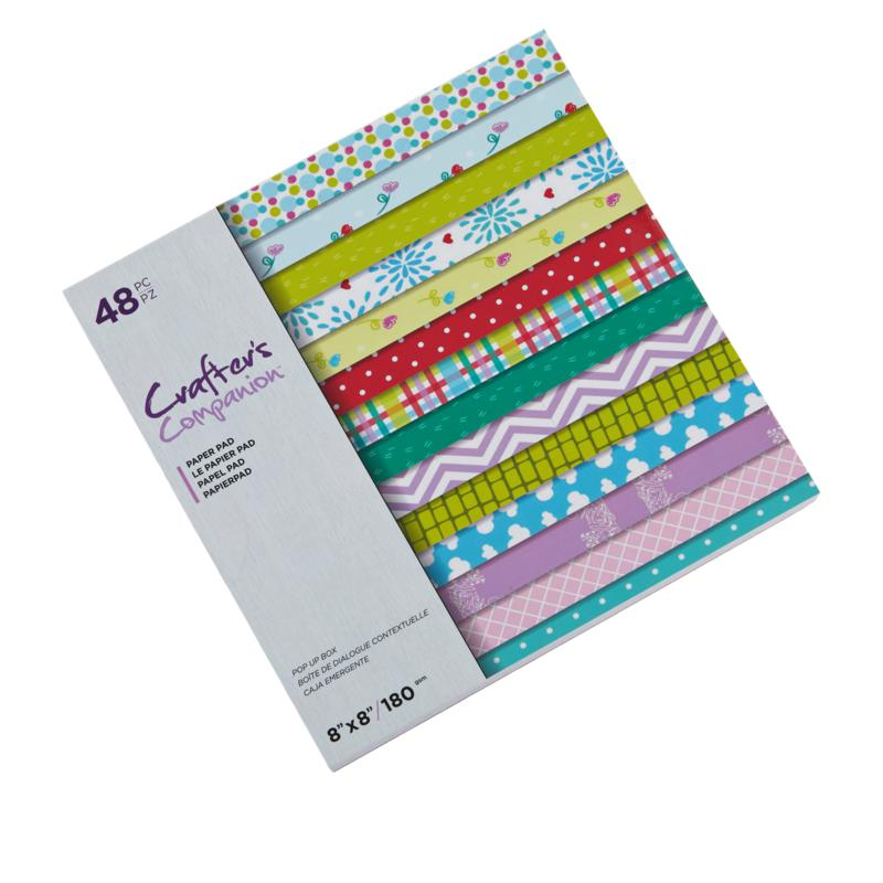 """Crafter's Companion 48-Sheet 8"""" x 8"""" Printed Paper Pad"""