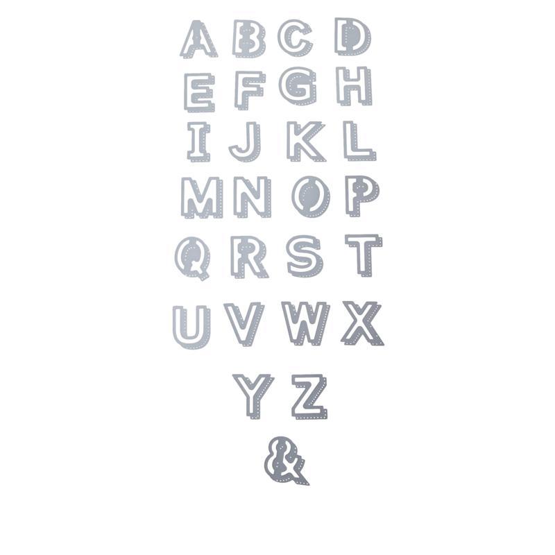 Crafter's Companion Gemini Shadow Alphabet Die Set