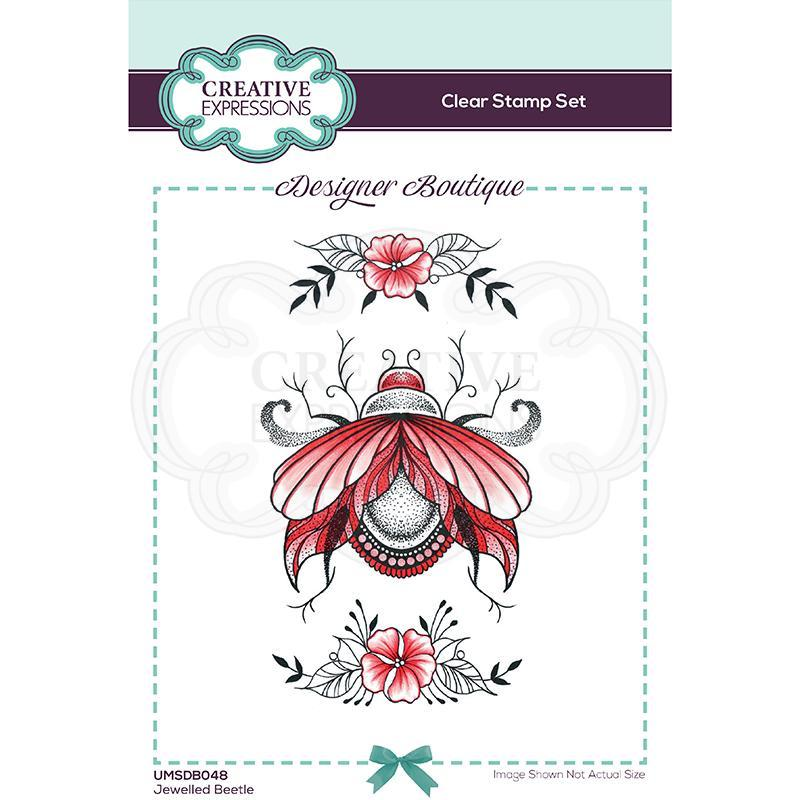 Creative Expressions Boutique Collection Jeweled Beetle A6 Clear Stamp