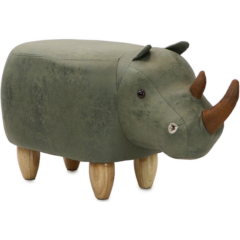 "Critter Sitters 14"" Plush Animal Ottoman - Rhinoceros"