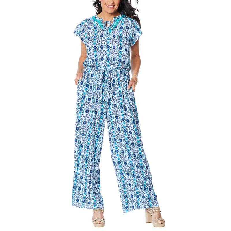 Curations Printed Gauze Jumpsuit