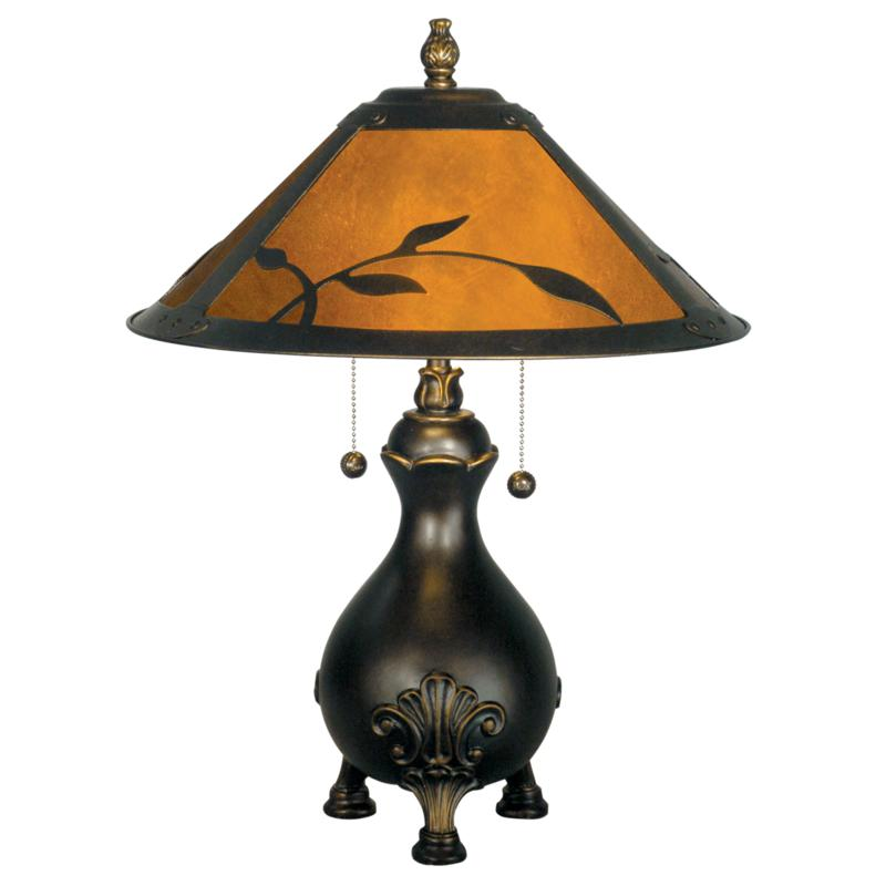 Dale Tiffany Mica Leafs Table Lamp