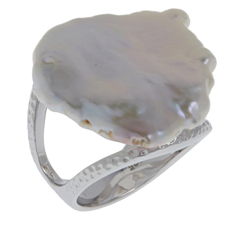 Deb Guyot Studio Baroque Cultured Freshwater Pearl Textured Ring