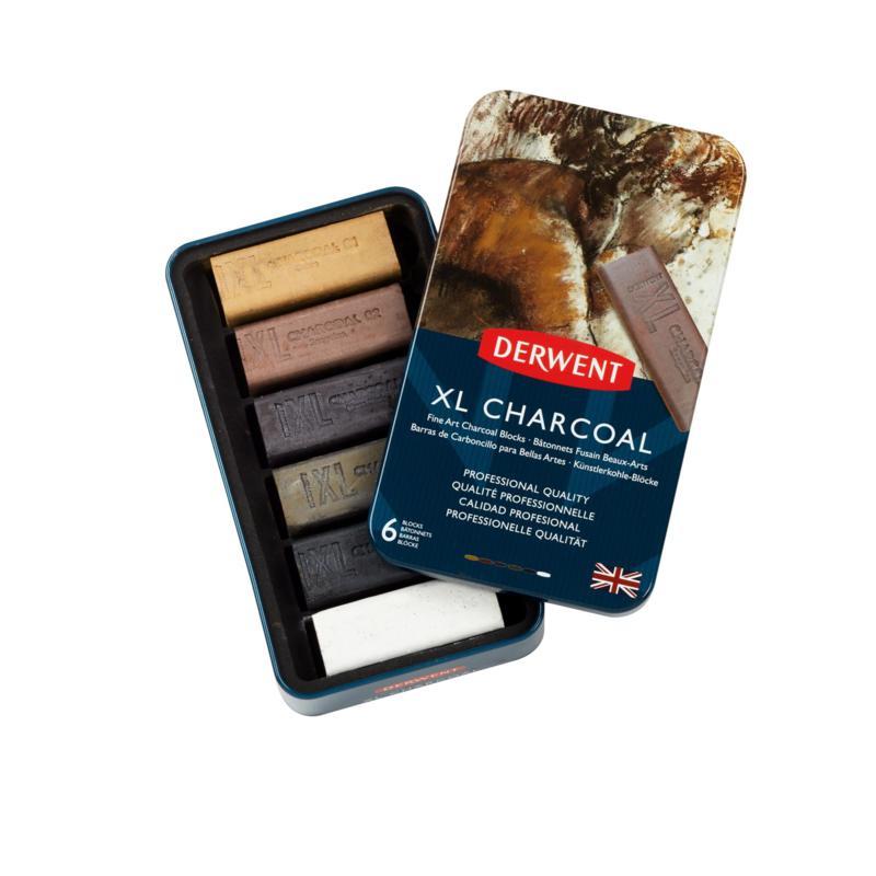 Derwent XL Charcoal Blocks Assorted Set of 6
