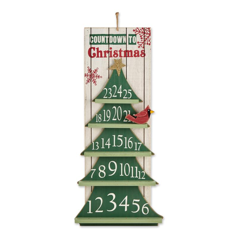 Design Imports Countdown to Christmas Tree Calendar Wall Sign