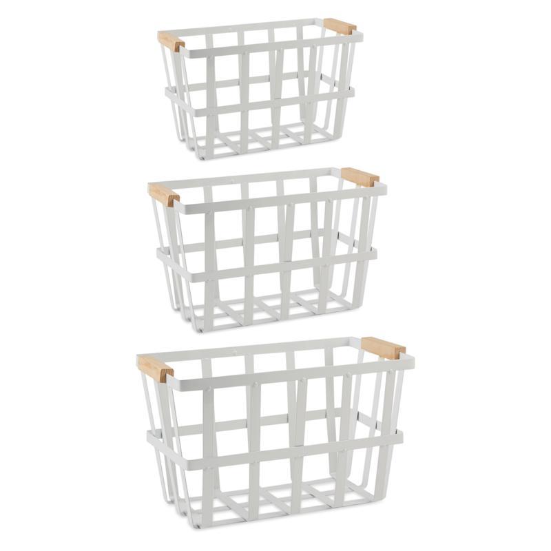 Design Imports Set of 3 Urban Modern Metal Basket