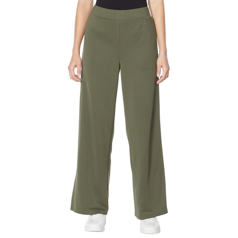 "DG2 by Diane Gilman ""DG Downtime"" Ottoman Pull-On Ponte Lounge Pant"