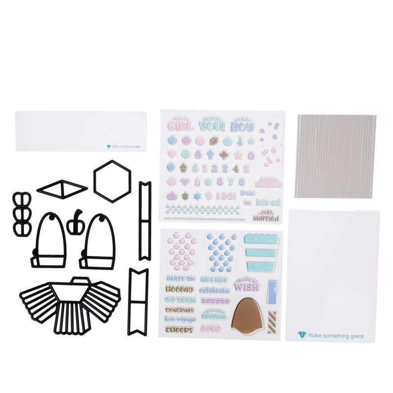 Diamond Press 3D Cupcake Stamp and Die Kit