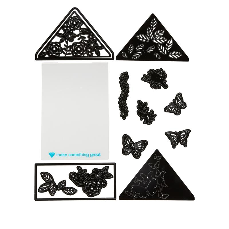 Diamond Press Envelope Liner Nature Nesting Die Set