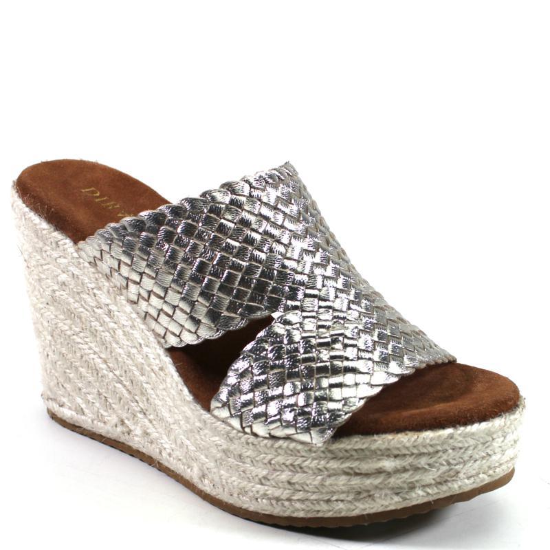 Diba True Have To Know Leather Wedge Platform Slide Sandal