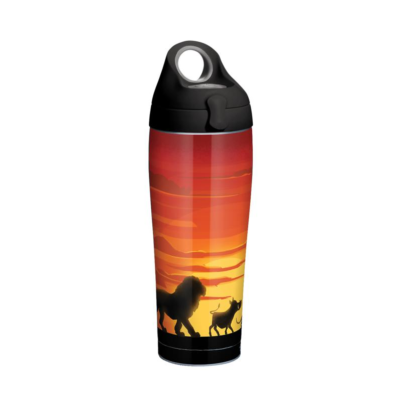 Disney Lion King Silhouette 24 oz Stainless Steel Water Bottle with...