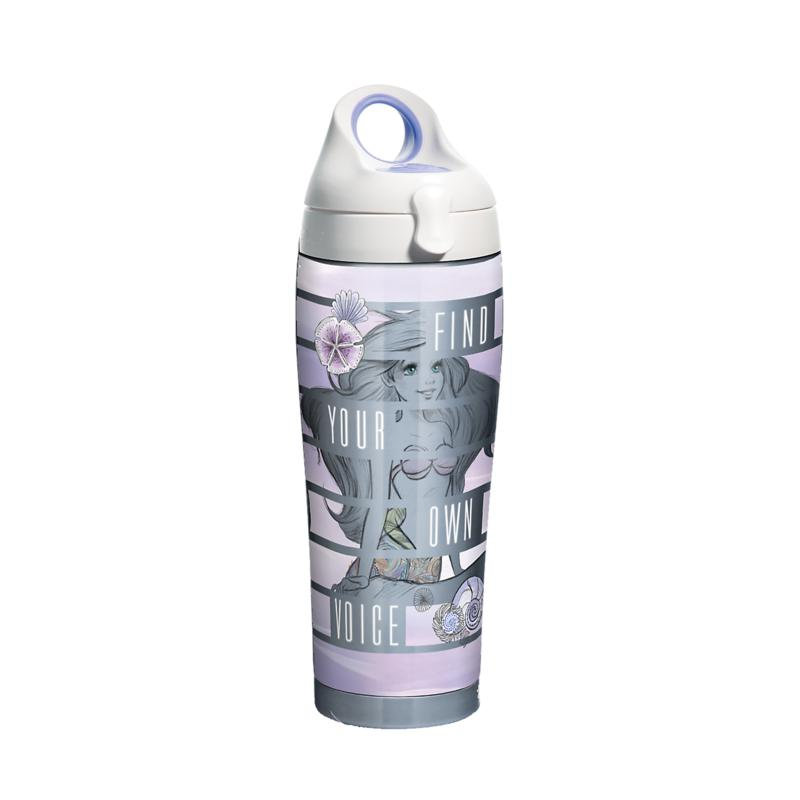 Disney Little Mermaid Find Your Voice 24 oz Stainless Steel Water B...