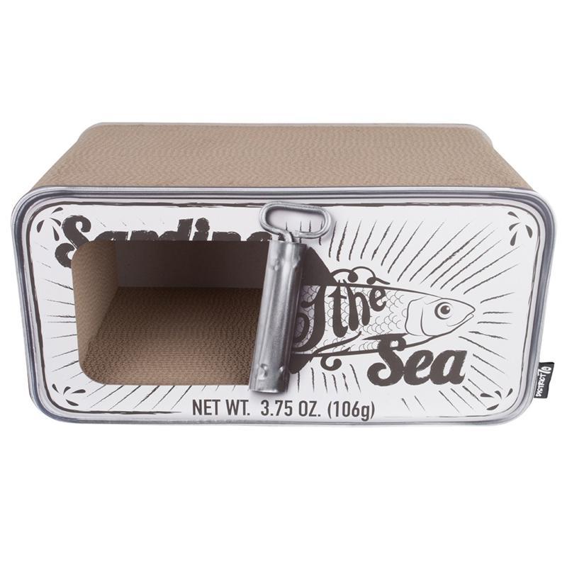 District 70 Sardine Cardboard Cat Scratcher - White