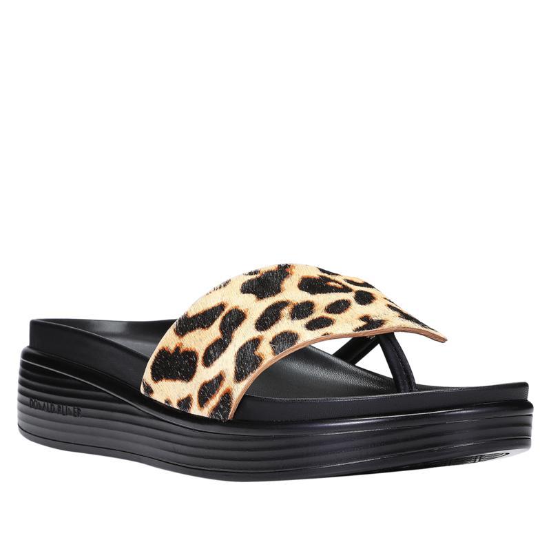 Donald J. Pliner Fifi22 Haircalf Leather Platform Thong Sandal