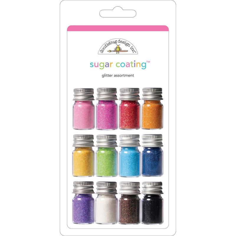 Doodlebug Sugar Coating 12-pack Glitter Assortment