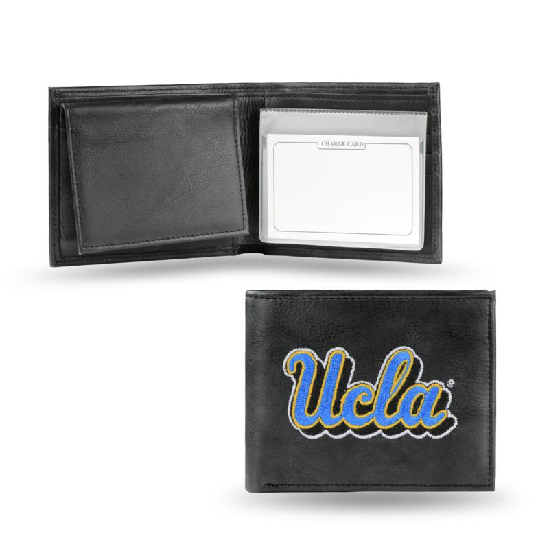 Embroidered Leather Billfold Wallet