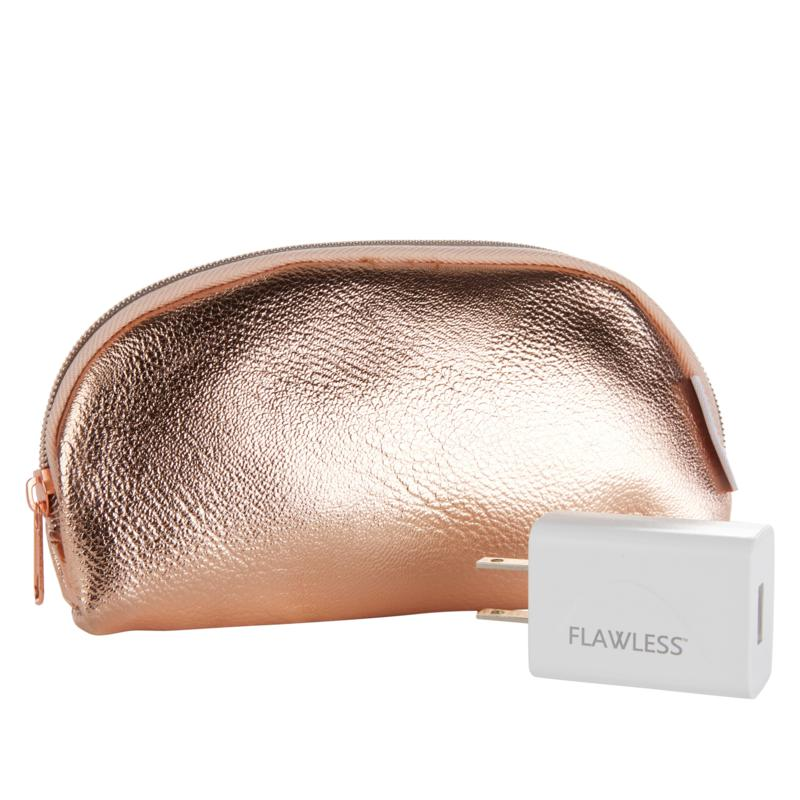 Finishing Touch Flawless Rose Gold Cosmetic Case & Adapter