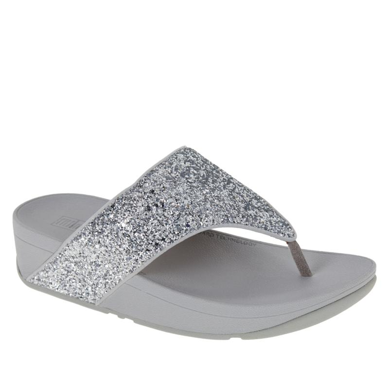 FitFlop Lottie Glitter Mix Toe-Post Thong Sandal
