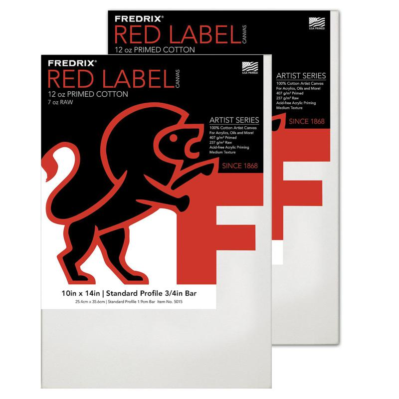 """Frederix Red Label Stretched Cotton Canvas - 10"""" x 14"""""""