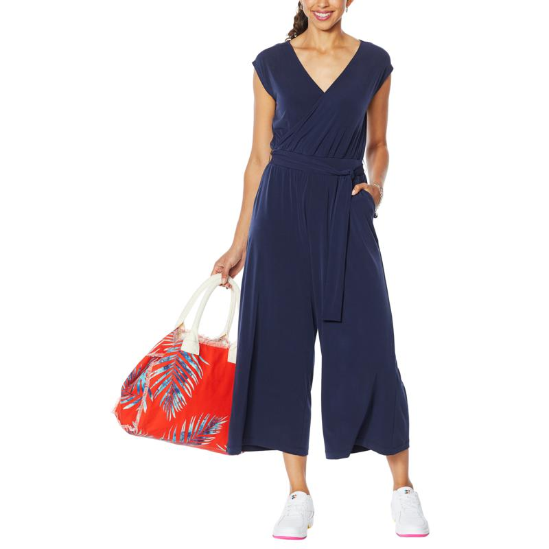 G by Giuliana Cropped Knit Jumpsuit