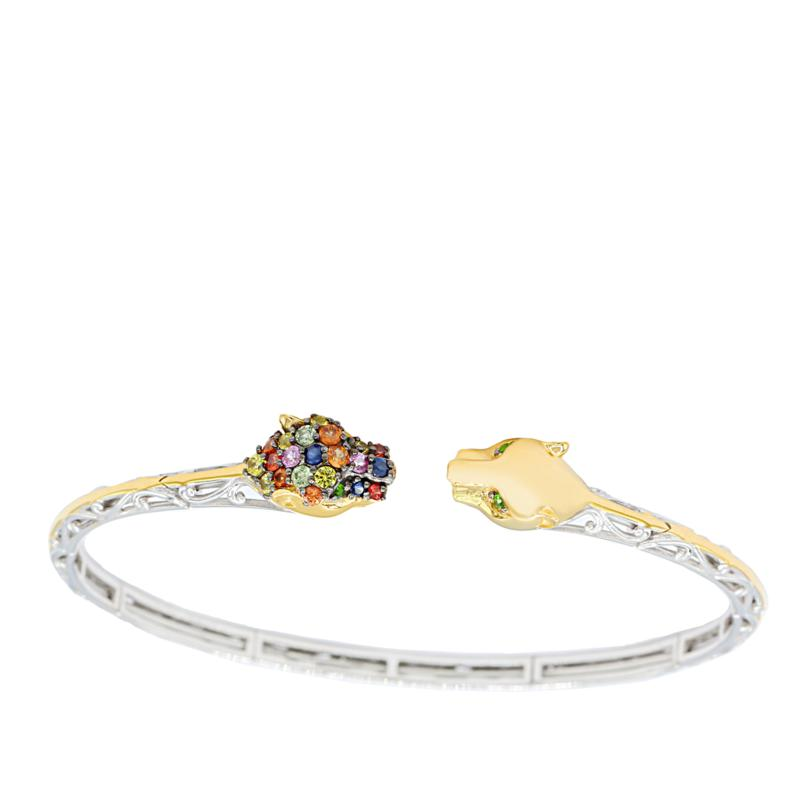 Gems by Michael 18K Goldtone Multi-Gemstone Flex Bangle Bracelet
