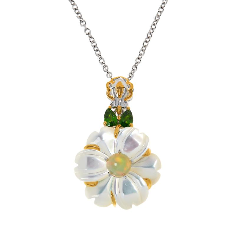 Gems by Michael Mother-of-Pearl and Multi-Gemstone Pendant