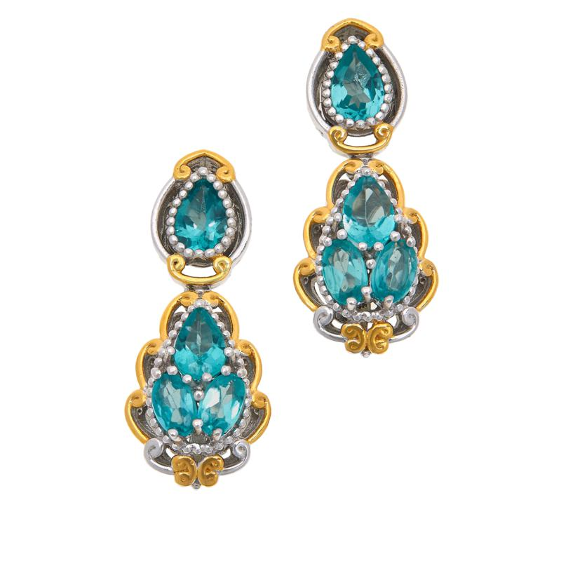 Gems by Michael Sterling Silver Dauphin Apatite Drop Earrings