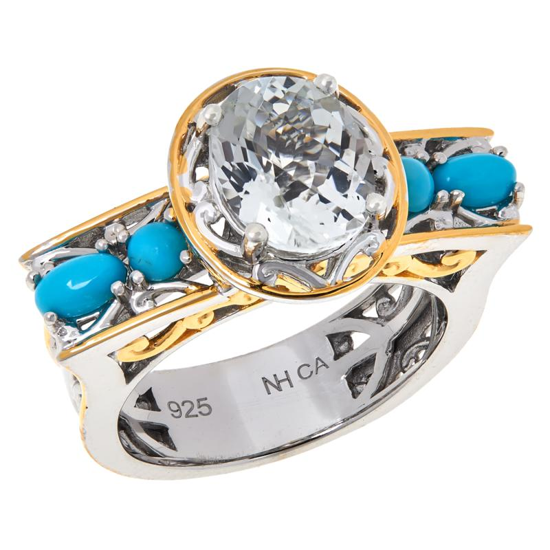 Gems by Michael Valitutti Gemstone and White Topaz Ring